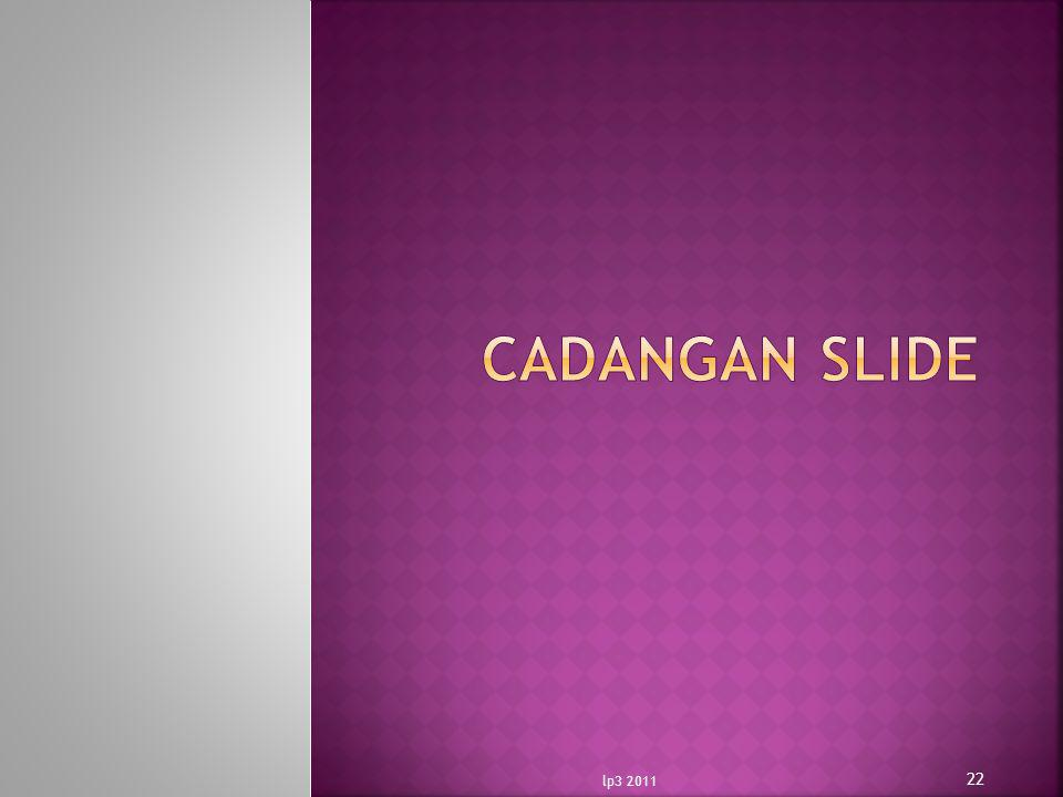 CADANGAN SLIDE lp3 2011