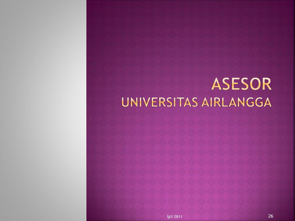 ASESOR UNIVERSITAS AIRLANGGA