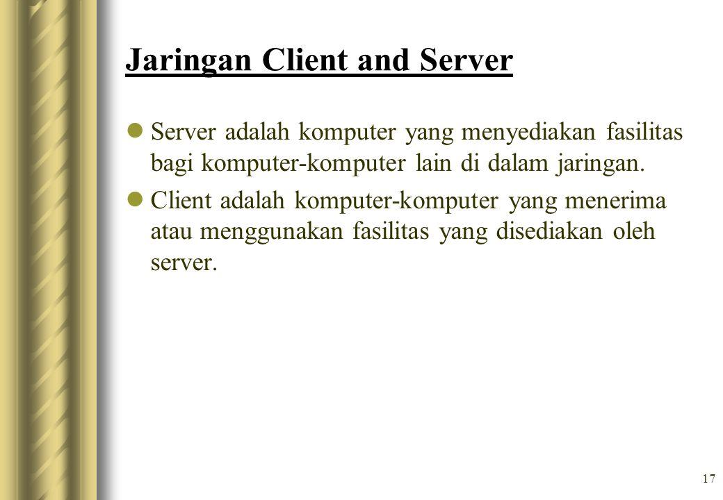 Jaringan Client and Server