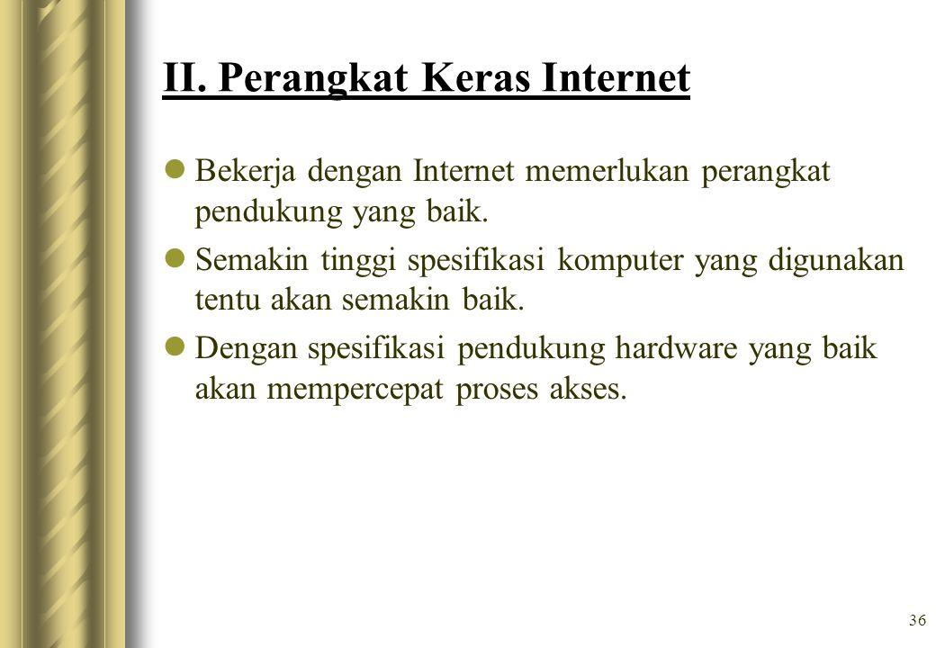 II. Perangkat Keras Internet