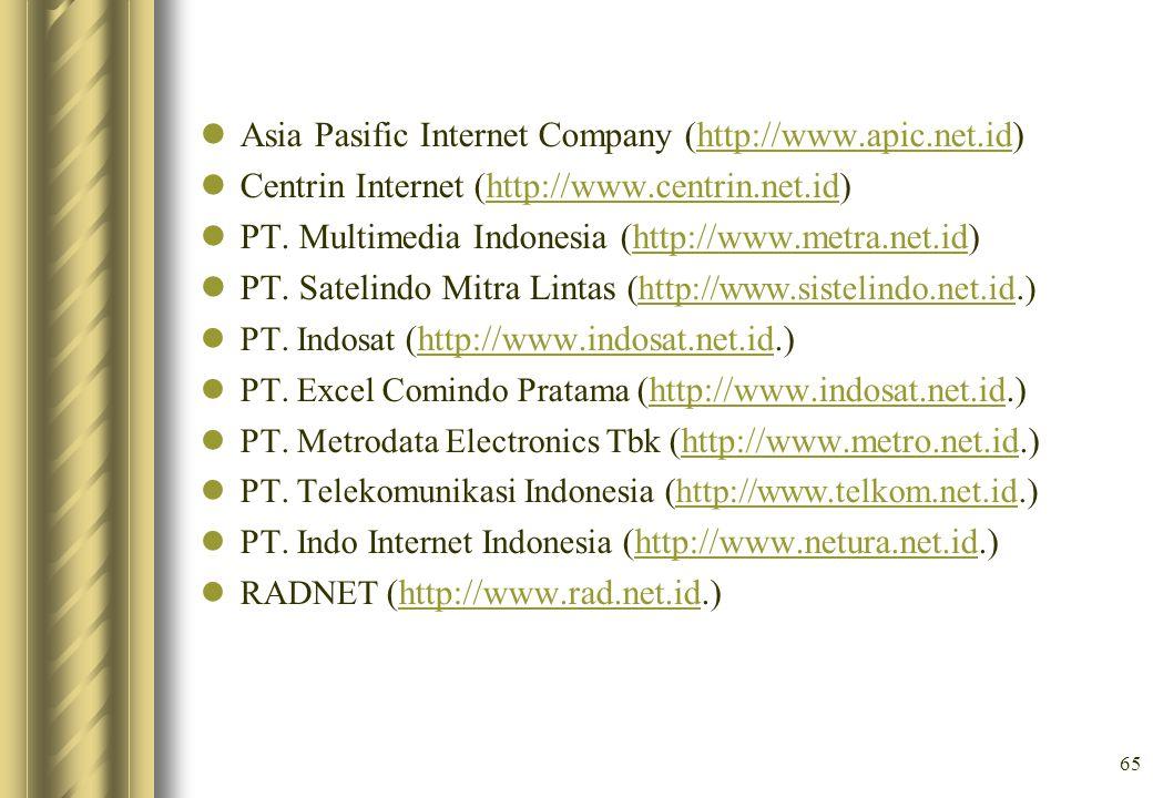 Asia Pasific Internet Company (http://www.apic.net.id)