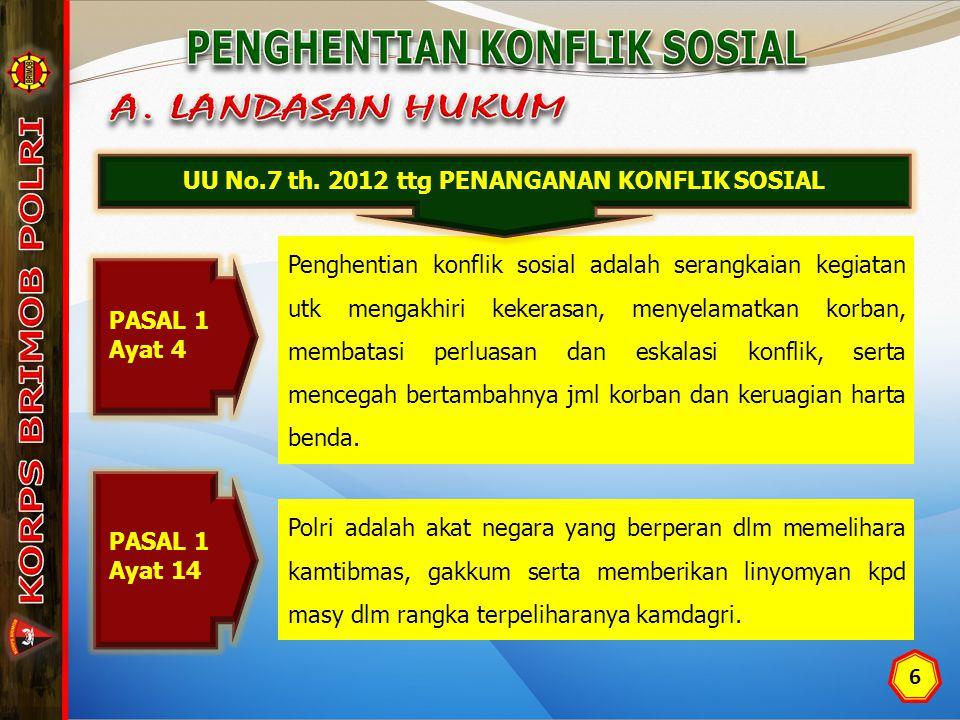 PENGHENTIAN KONFLIK SOSIAL