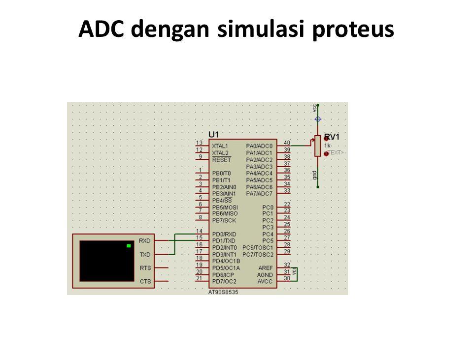 ADC dengan simulasi proteus