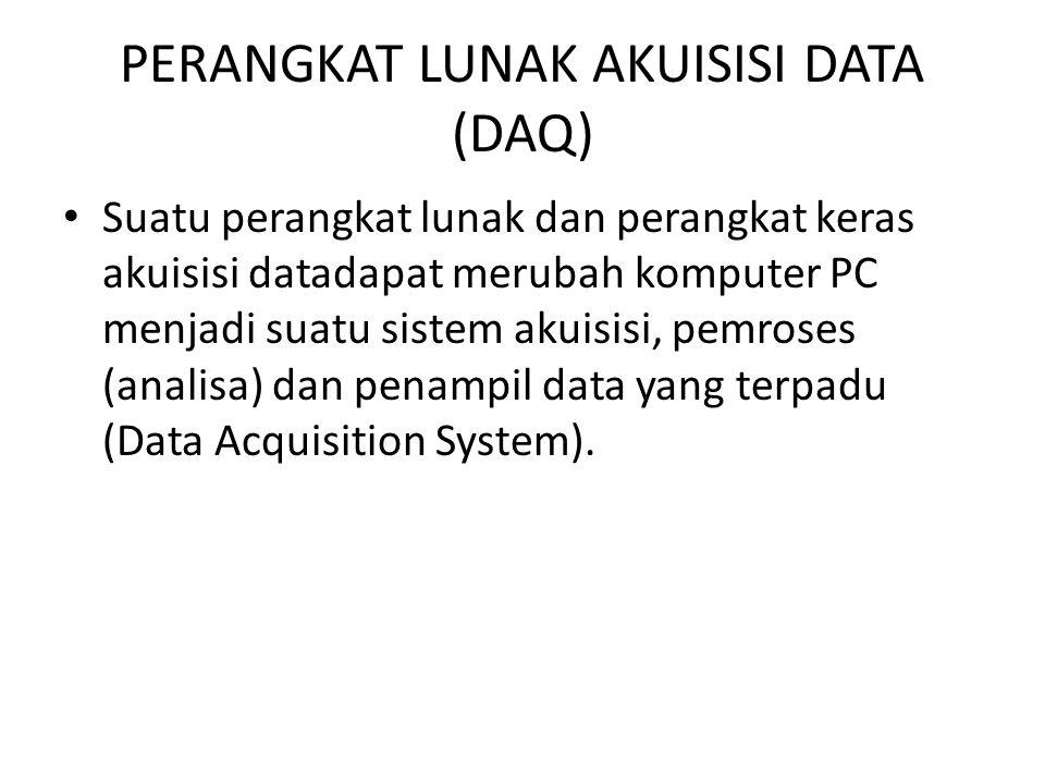 PERANGKAT LUNAK AKUISISI DATA (DAQ)