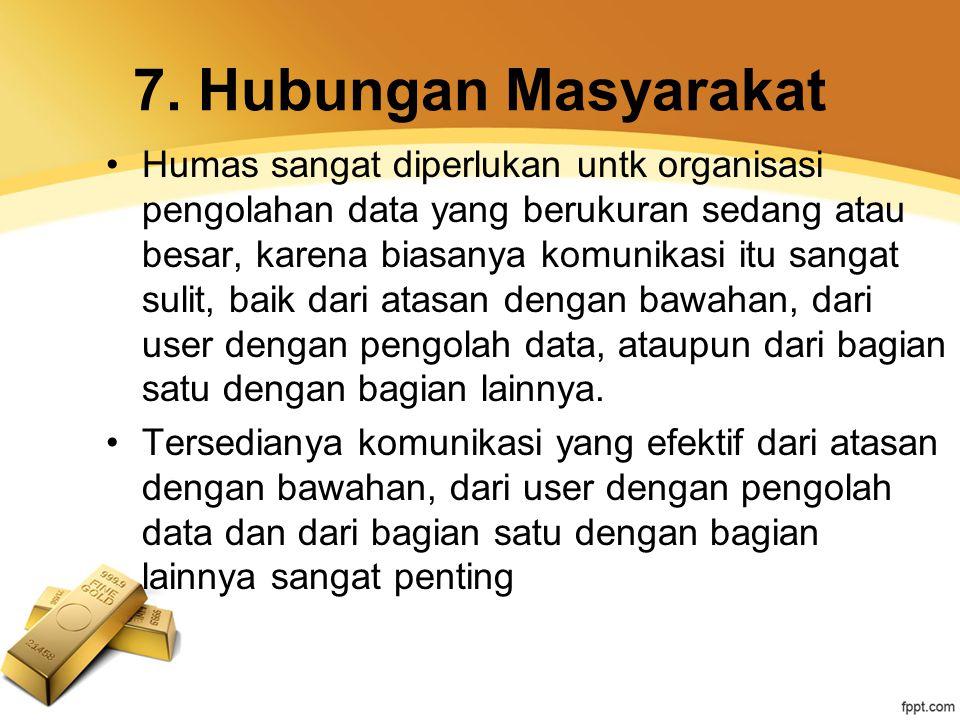 7. Hubungan Masyarakat