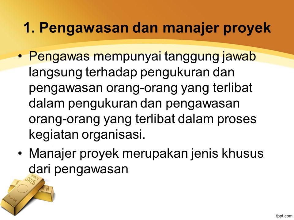 1. Pengawasan dan manajer proyek