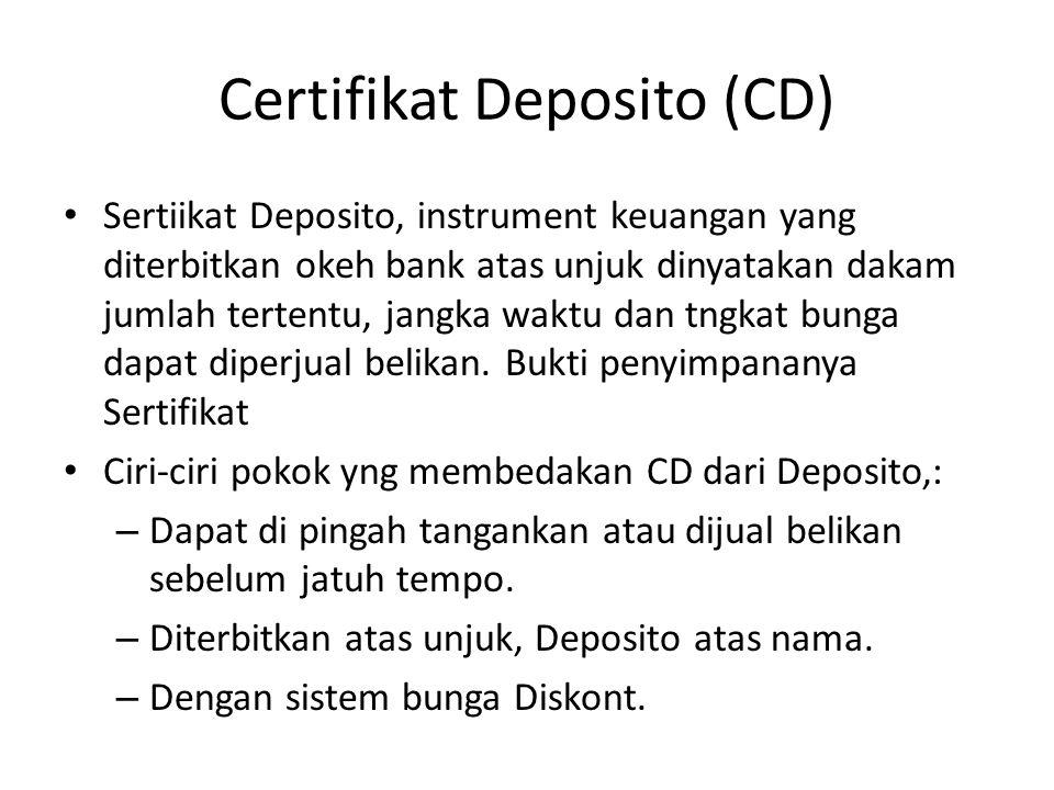 Certifikat Deposito (CD)