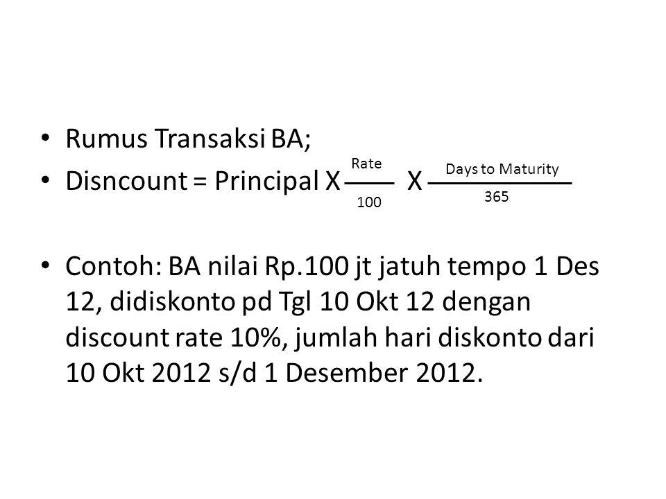 Disncount = Principal X X