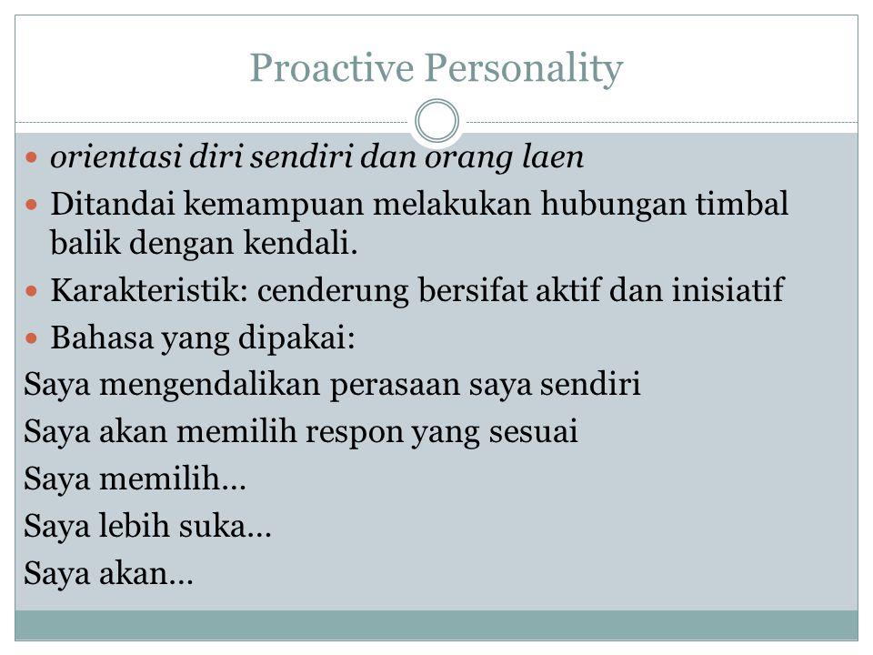 Proactive Personality