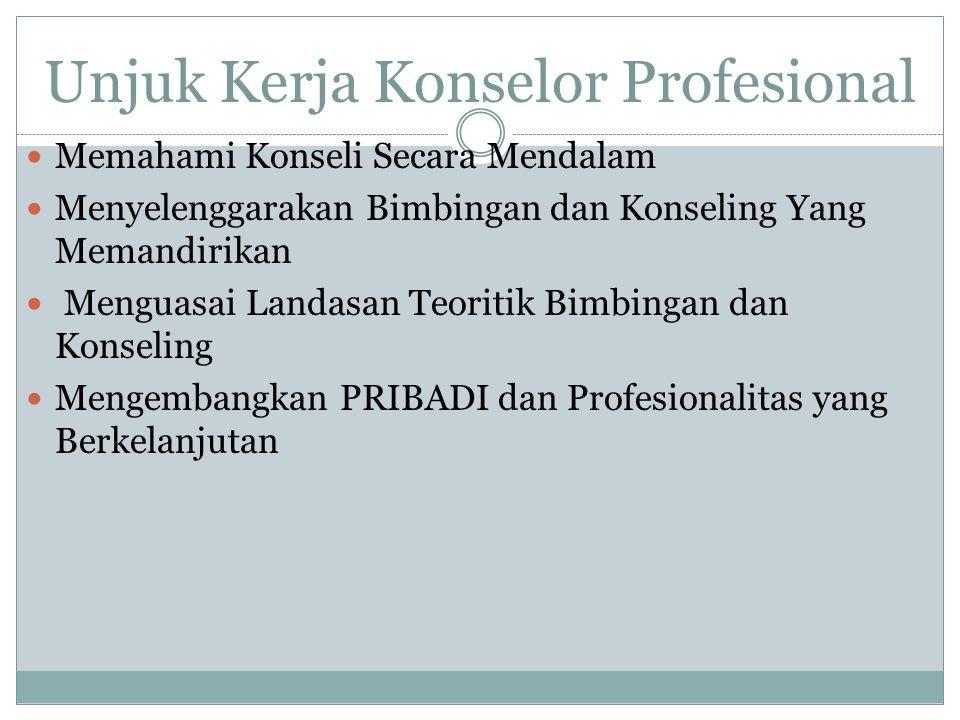 Unjuk Kerja Konselor Profesional