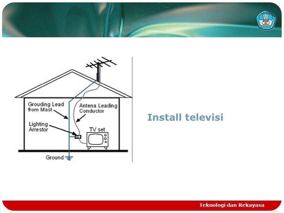 Install televisi Teknologi dan Rekayasa