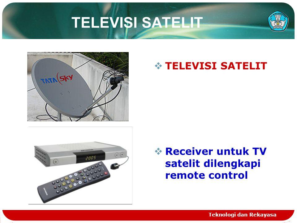 TELEVISI SATELIT TELEVISI SATELIT