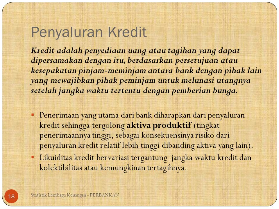 Penyaluran Kredit