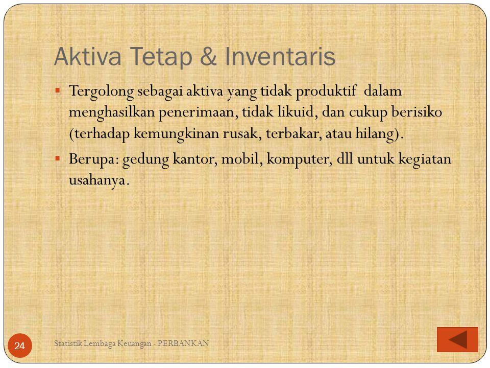 Aktiva Tetap & Inventaris