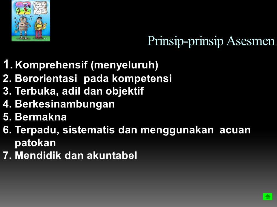Prinsip-prinsip Asesmen
