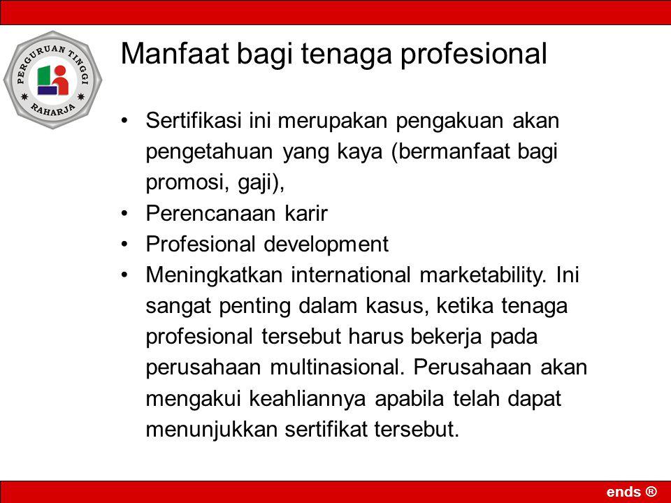 Manfaat bagi tenaga profesional