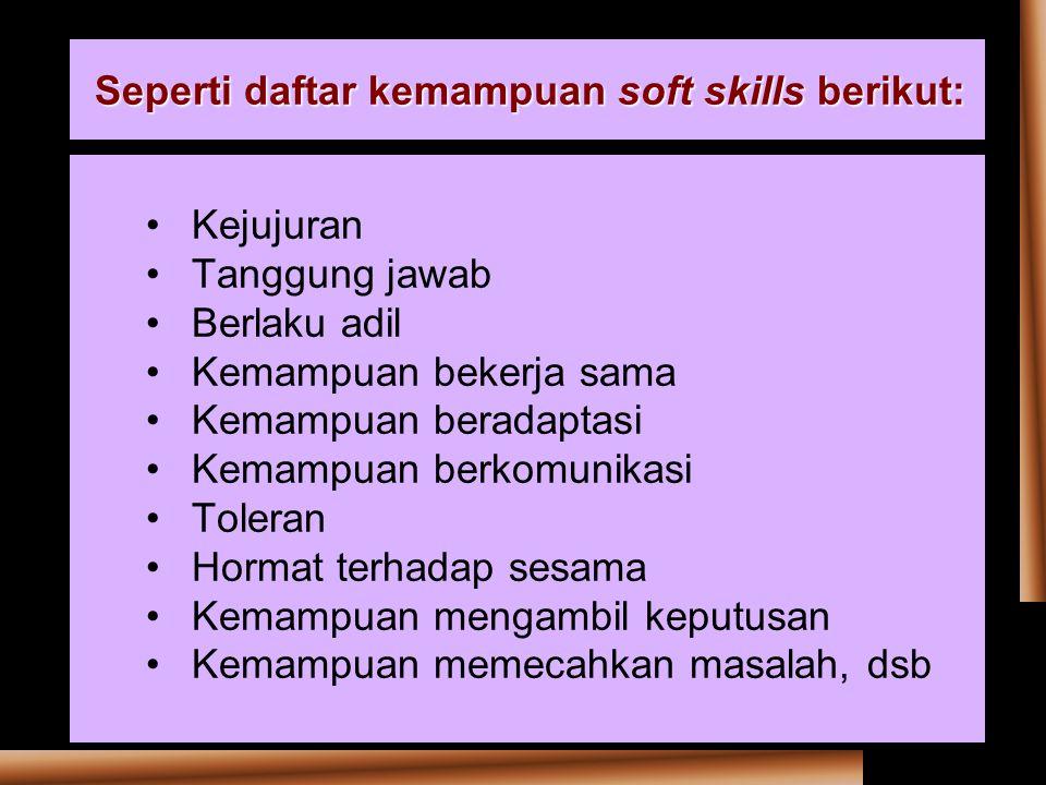 Seperti daftar kemampuan soft skills berikut: