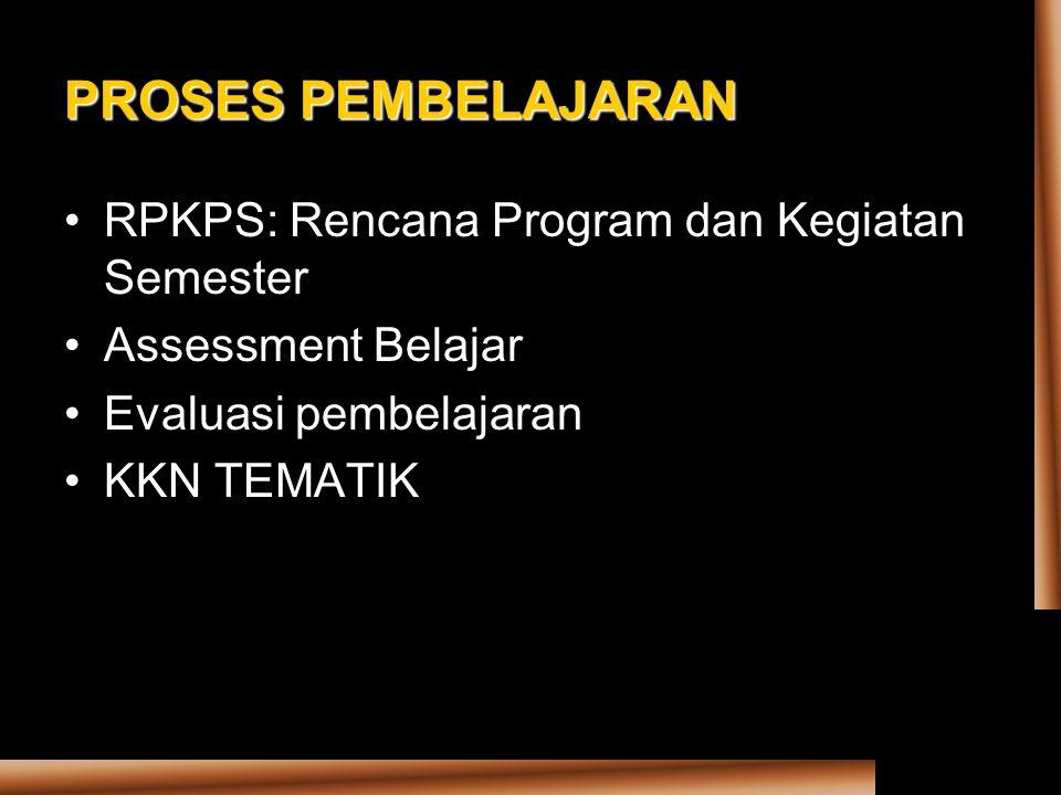 PROSES PEMBELAJARAN RPKPS: Rencana Program dan Kegiatan Semester