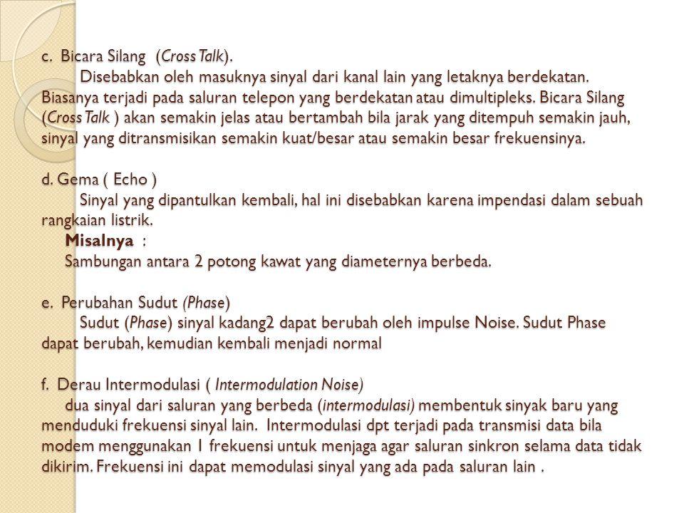 c. Bicara Silang (Cross Talk)