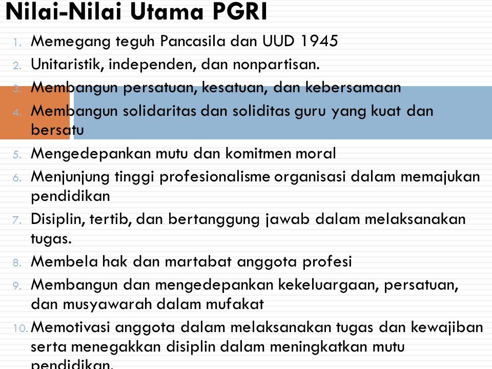 Nilai-Nilai Utama PGRI