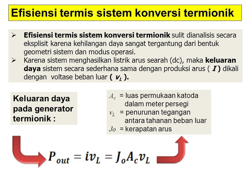 Efisiensi termis sistem konversi termionik