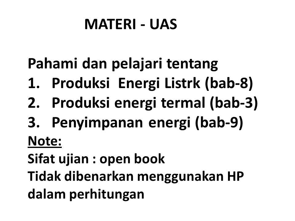 Pahami dan pelajari tentang Produksi Energi Listrk (bab-8)