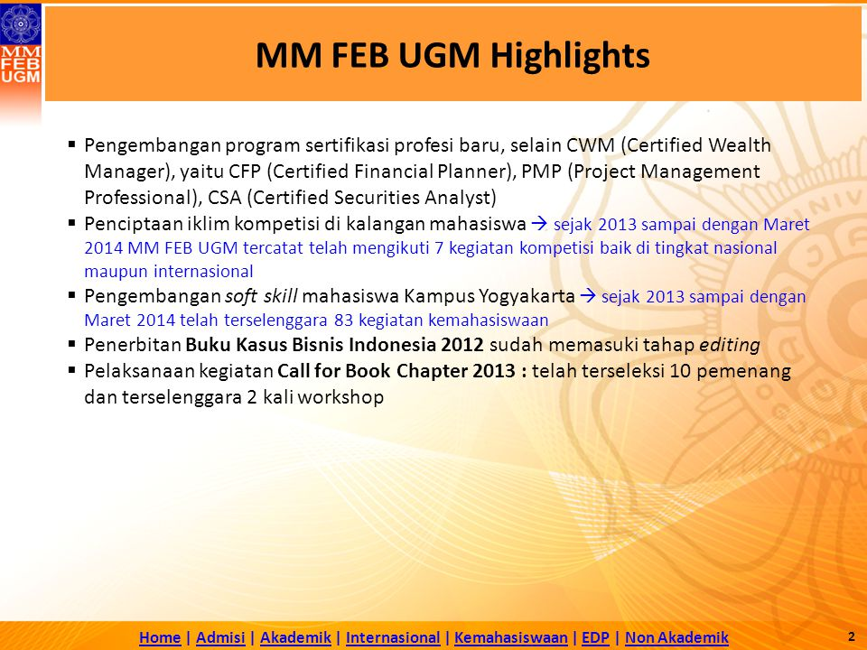 MM FEB UGM Highlights