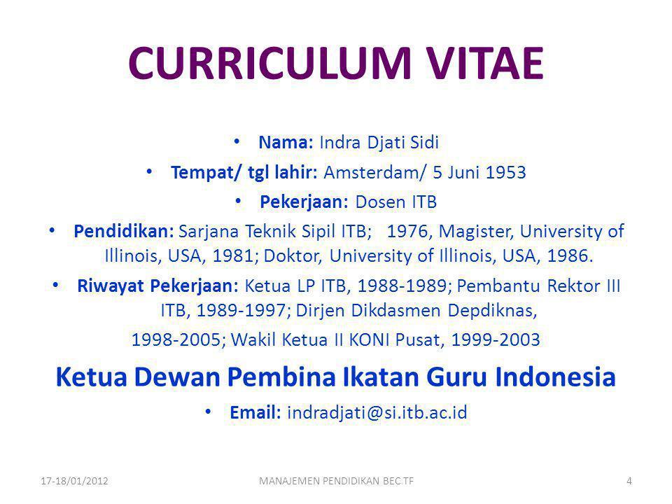 Ketua Dewan Pembina Ikatan Guru Indonesia