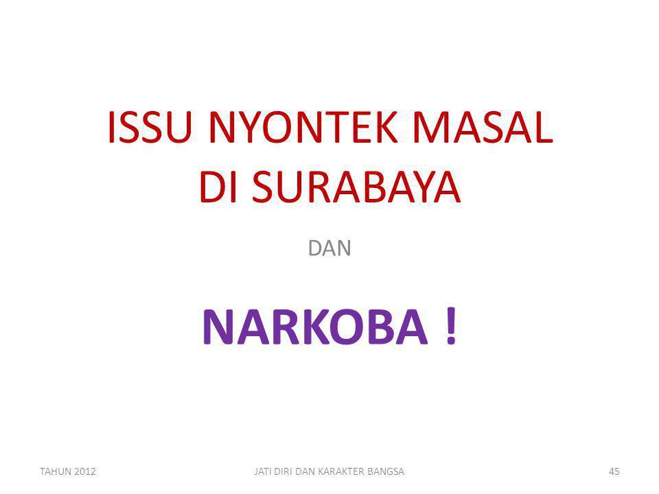 ISSU NYONTEK MASAL DI SURABAYA