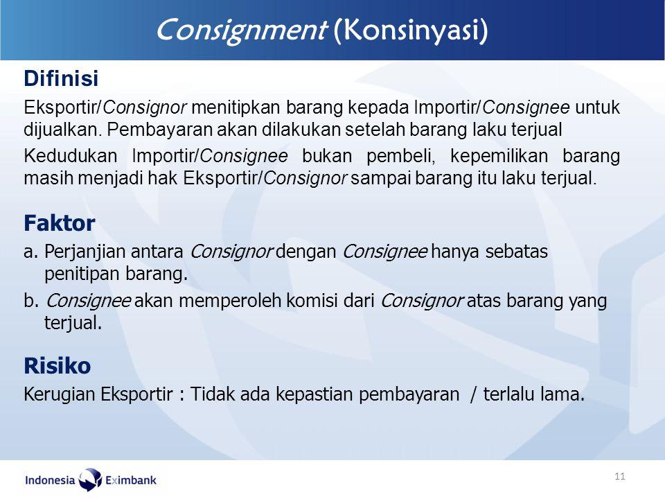 Consignment (Konsinyasi)