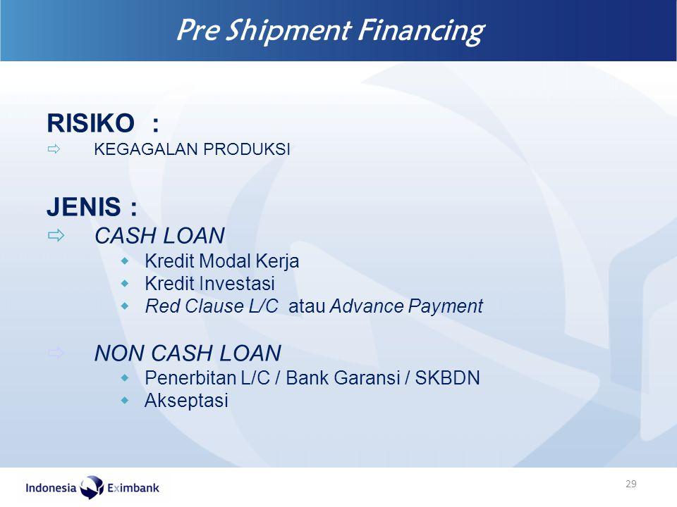 Pre Shipment Financing