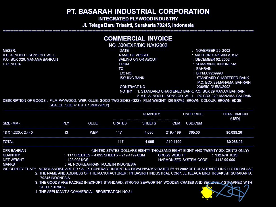 PT. BASARAH INDUSTRIAL CORPORATION
