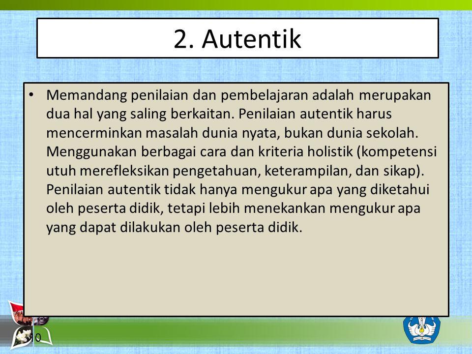 2. Autentik