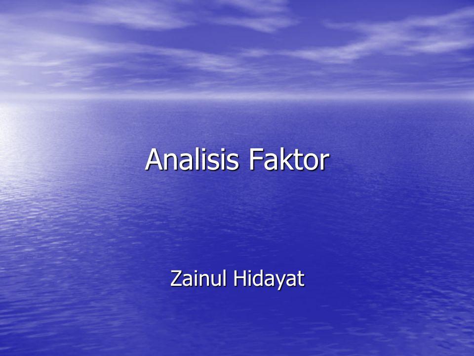 Analisis Faktor Zainul Hidayat