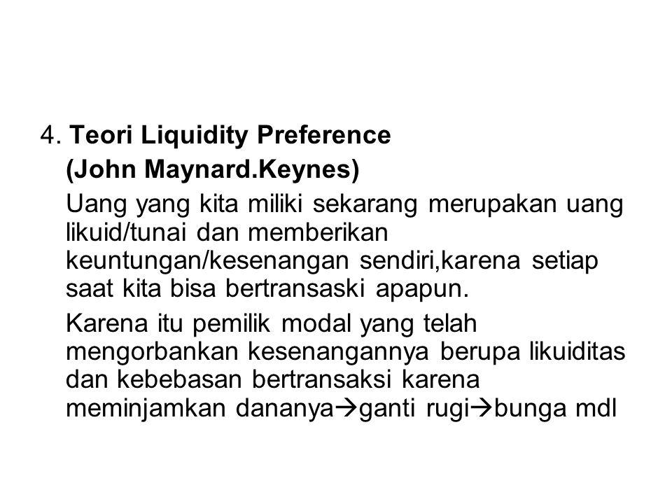4. Teori Liquidity Preference