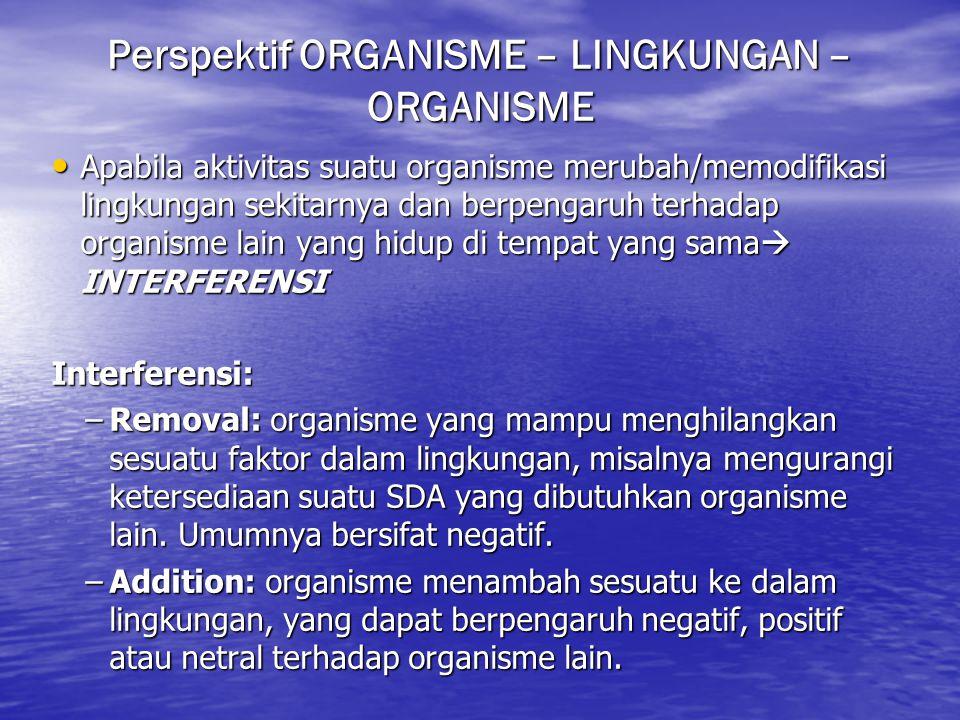 Perspektif ORGANISME – LINGKUNGAN – ORGANISME