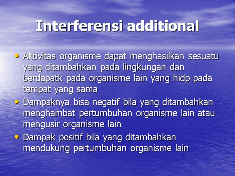 Interferensi additional