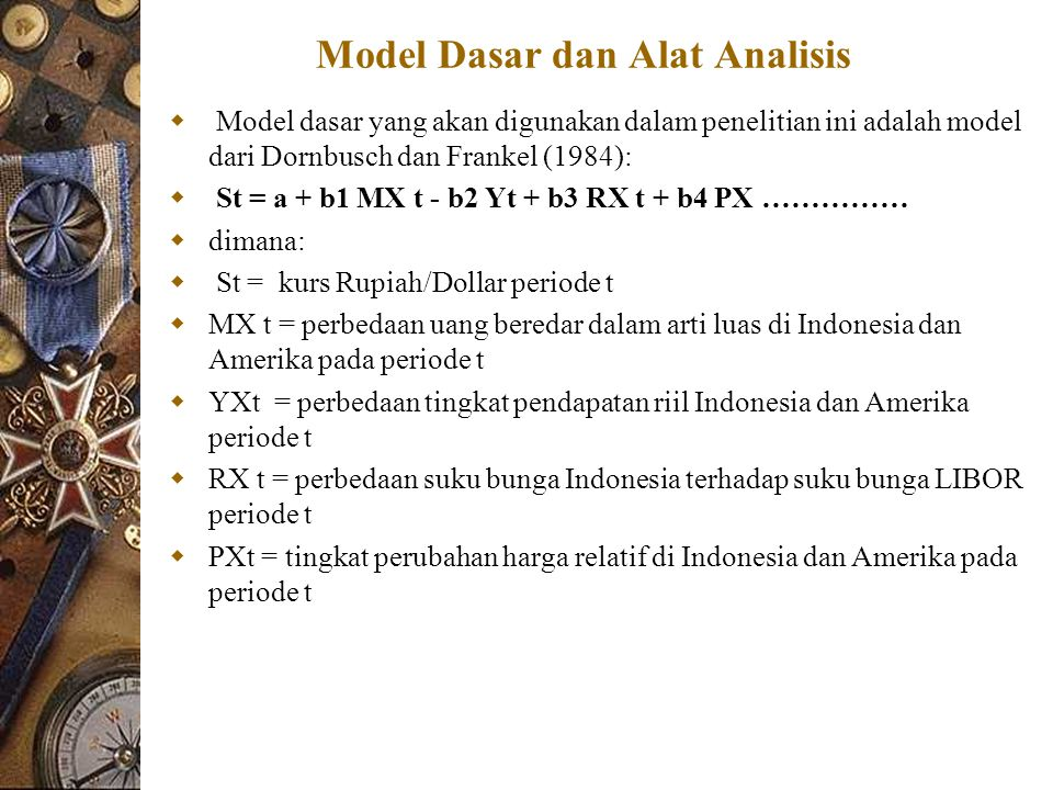 Model Dasar dan Alat Analisis