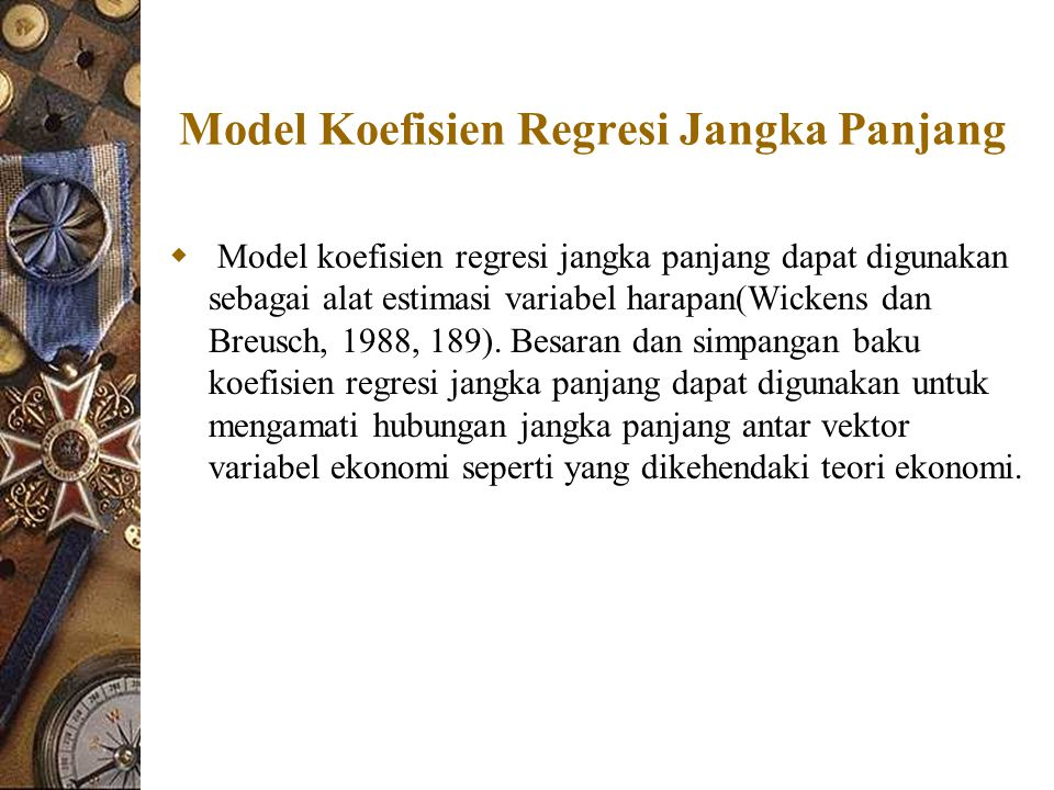 Model Koefisien Regresi Jangka Panjang