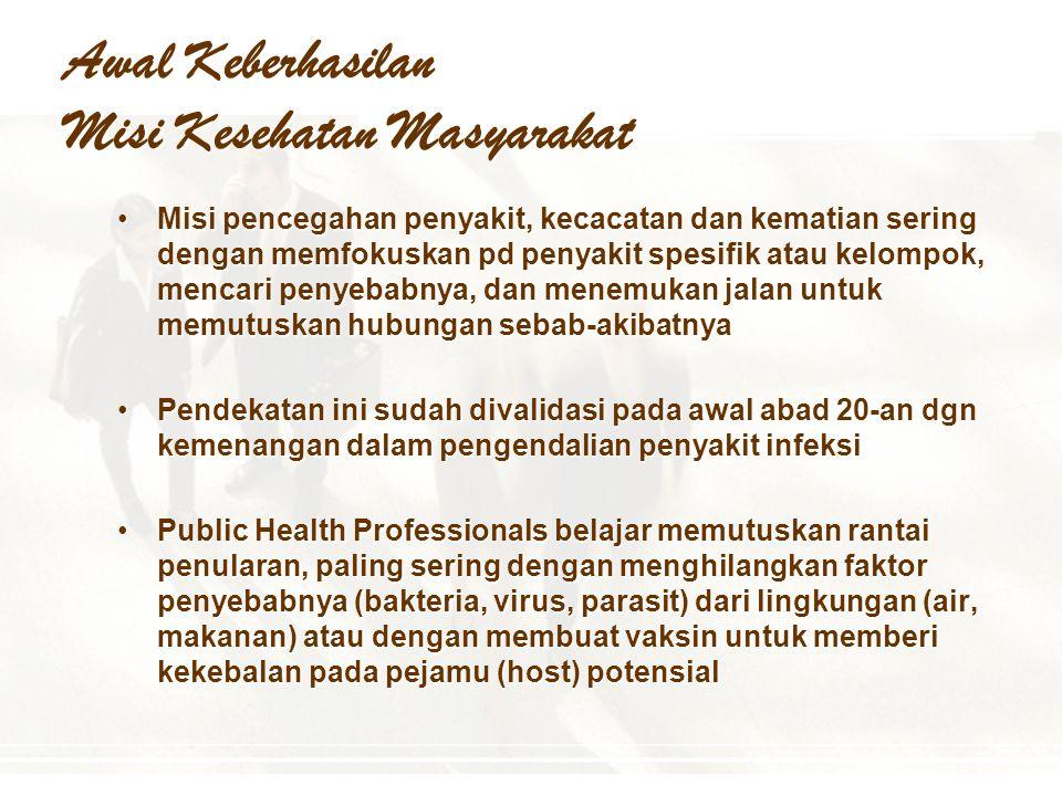 Awal Keberhasilan Misi Kesehatan Masyarakat