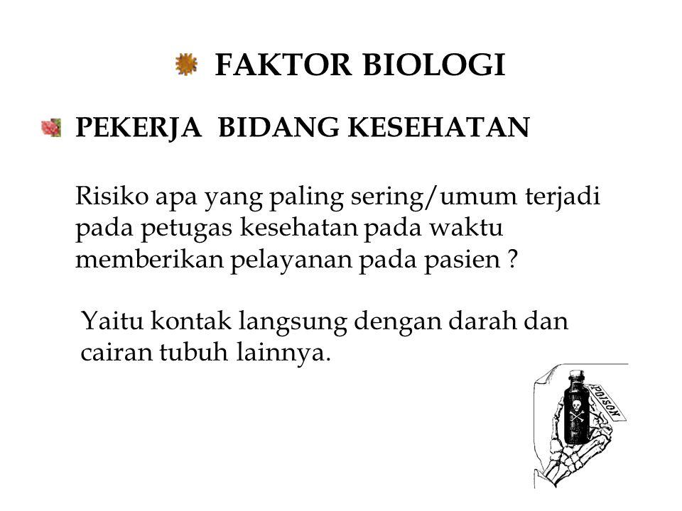 FAKTOR BIOLOGI PEKERJA BIDANG KESEHATAN