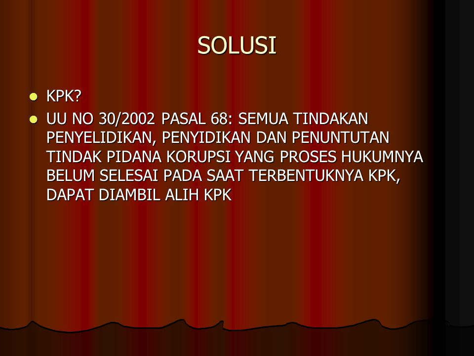 SOLUSI KPK