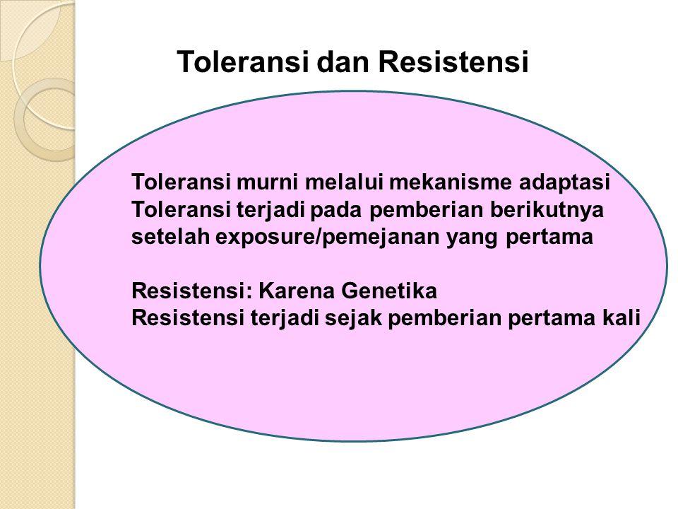 Toleransi dan Resistensi