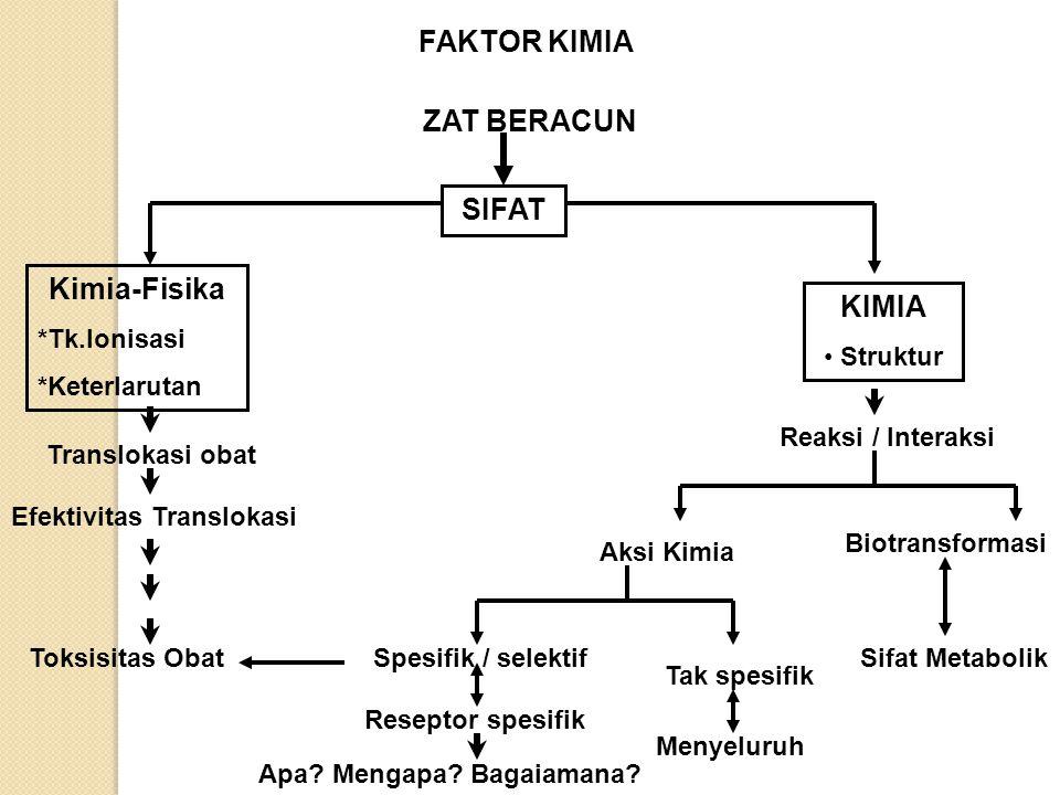 FAKTOR KIMIA ZAT BERACUN SIFAT Kimia-Fisika KIMIA