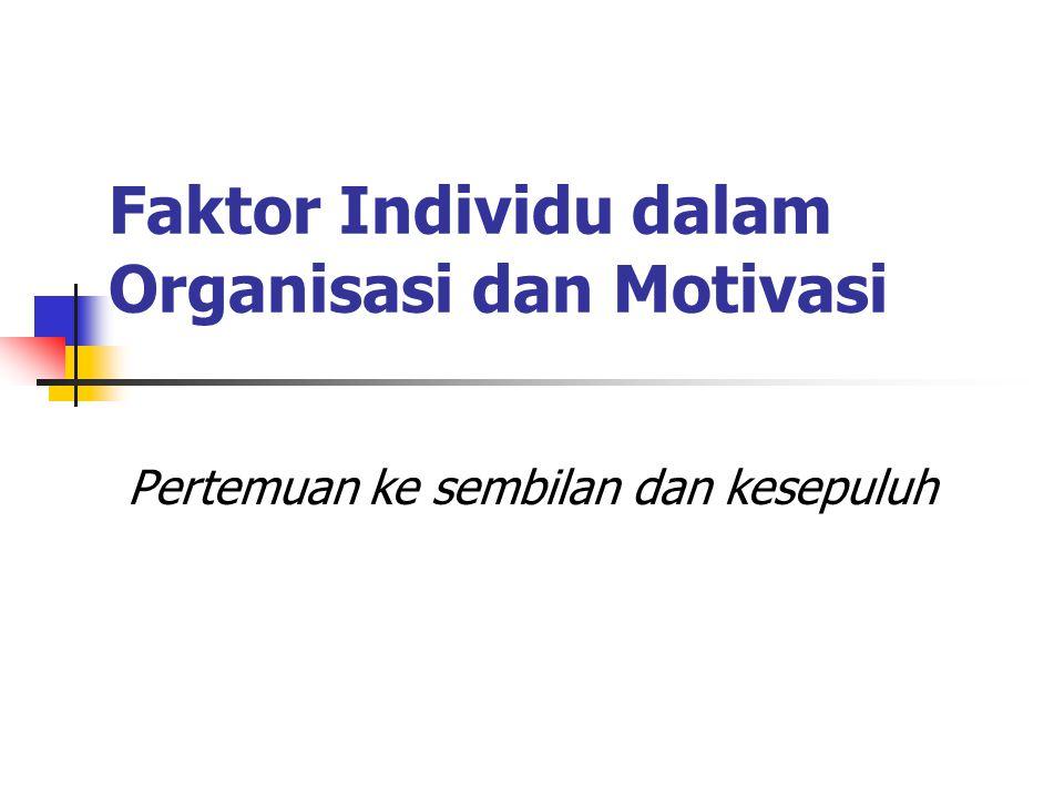 Faktor Individu dalam Organisasi dan Motivasi