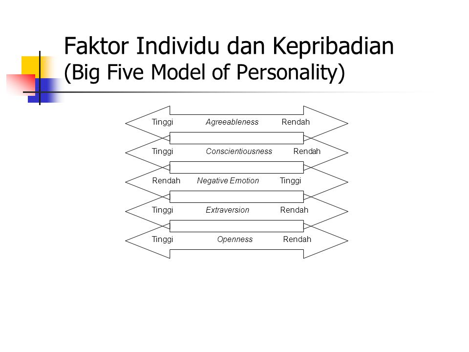 Faktor Individu dan Kepribadian (Big Five Model of Personality)