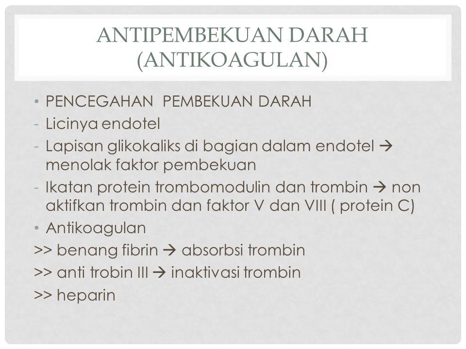 Antipembekuan darah (antikoagulan)