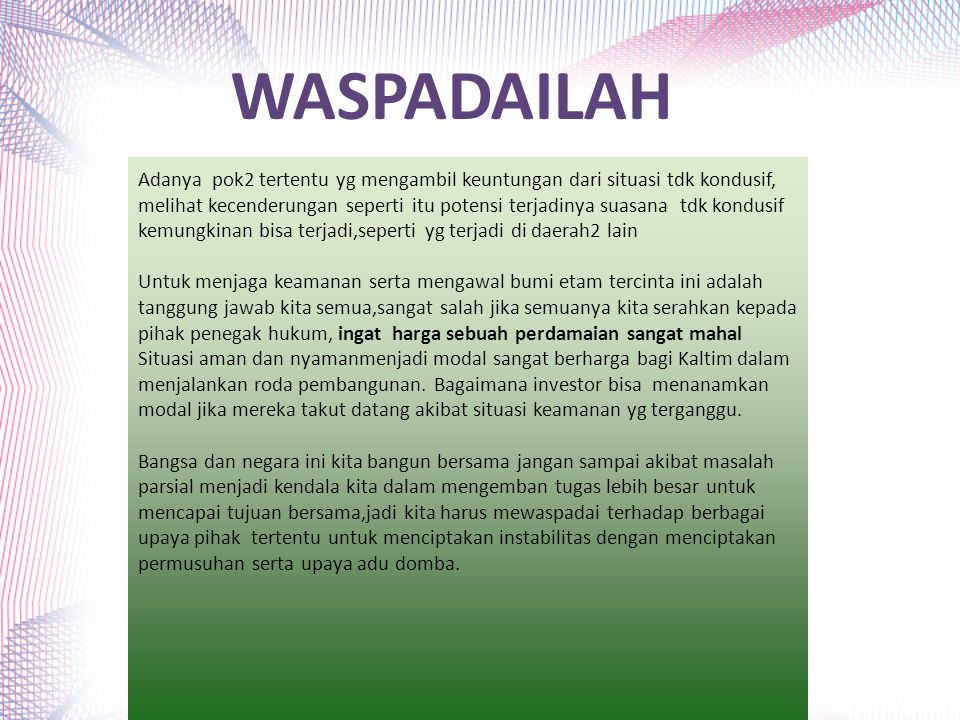 WASPADAILAH