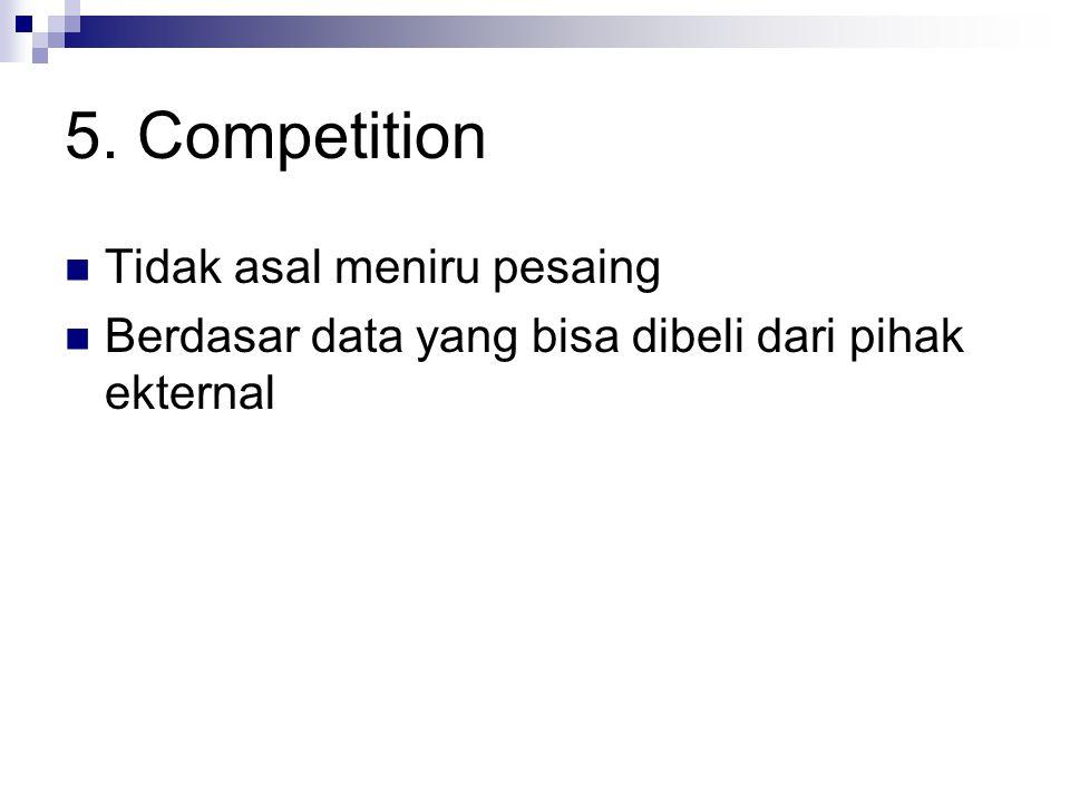 5. Competition Tidak asal meniru pesaing