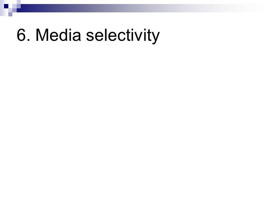6. Media selectivity